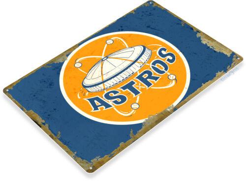 TIN SIGN Houston Astros Retro Metal Décor Dome Wall Store Card Shop Bar A976