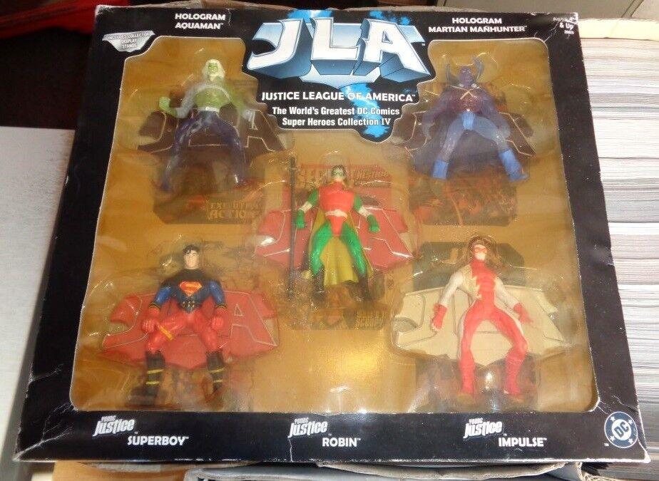 JLA 5 Figure Collection IV 4 Hologram Aquaman Martian Manhunter Superboy etc