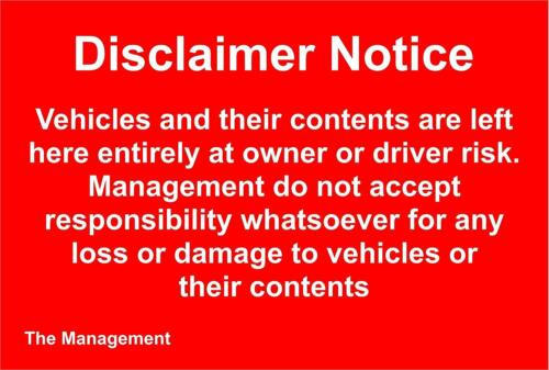 Renuncia de responsabilidad aviso signo vehículos y su contenido se quedan aquí totalmente signo