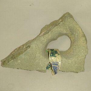 Feller Stone Natur Minzgrünes Lochgestein Mini Aquarium Dekoration Deko-Stein