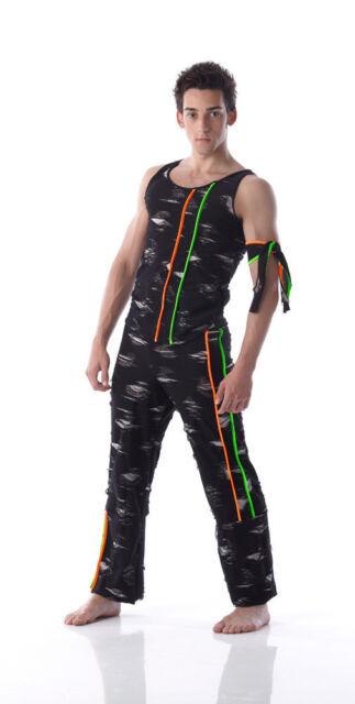URBAN JAM Mens Boys Hip Hop Jazz Dance Costume TANK TOP & PANTS CXS-2XL