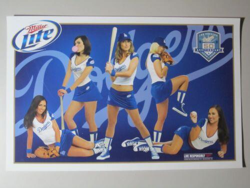 5 Miller Lite Dodgers 50th Anniv HOT Girls Posters light baseball bar Poster