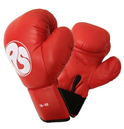 16oz PU Red Boxing Gloves