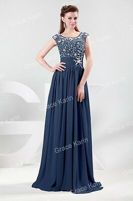 LACE Chiffon Evening Formal Bridesmaid Wedding Pageant Gown Prom Party Dress