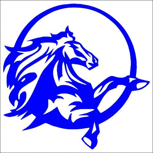 Horse Circle Mustang Vinyl Decal Pack TWO Sticker 2