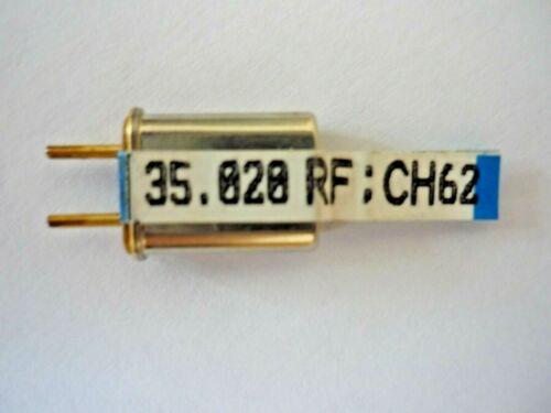 Hitec 35MHz Dual Conversion Receiver RX Crystal CH62 HRX70//020