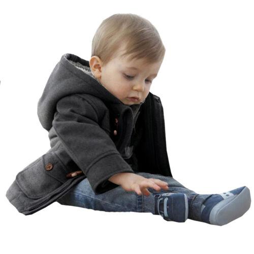Toddler Baby Kids Boys Warm Winter Jacket Hoodies Outwear Snowsuit Coat Clothes
