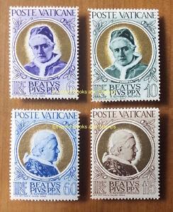 EBS-Vatican-City-Citta-del-Vaticano-1951-Beatification-Pius-X-145-148-MNH-60