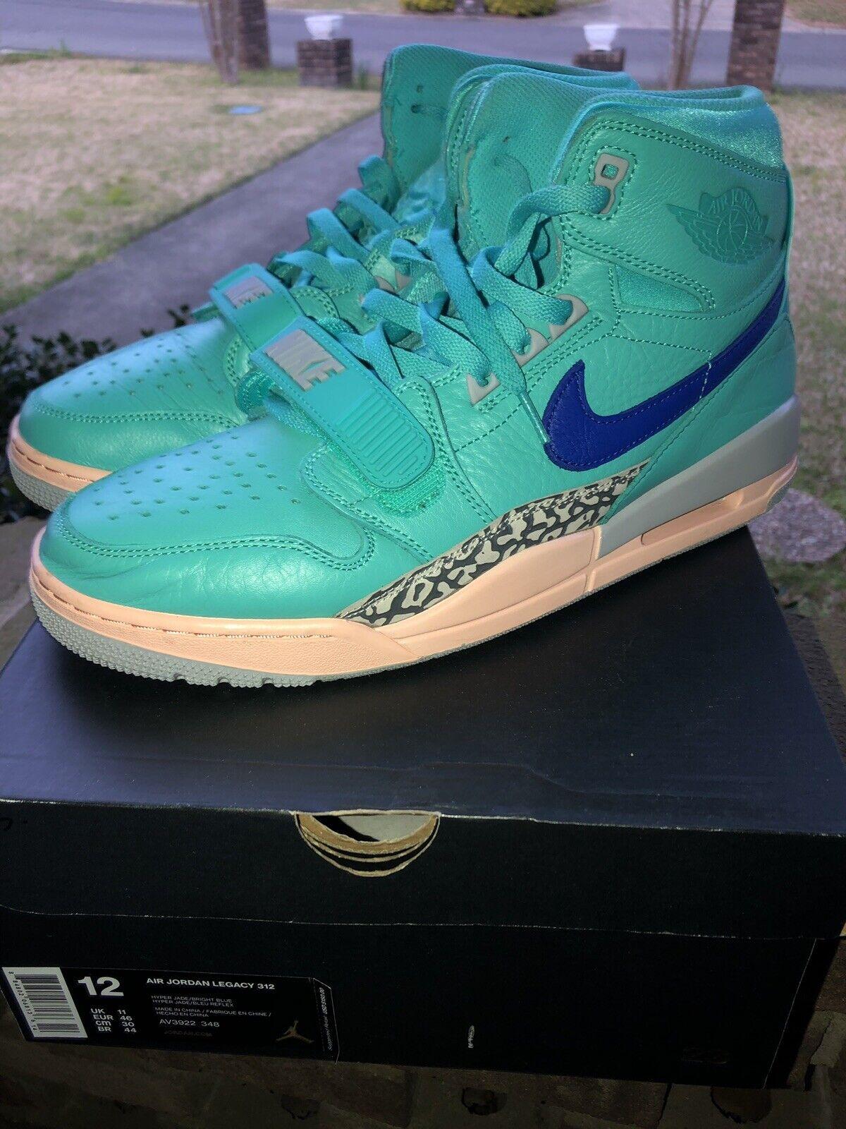 2b7b5aaade40a7 Nike Nike Nike Air Jordan Legacy 312 size 12 Hyper Jade Bright blueee 600f62