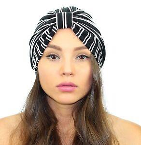 f2d49d5fa5d Image is loading Kristin-Perry-Pinstripe-Full-Turban-Headband-Hat