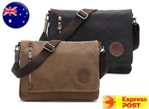 Men-039-s-Vintage-Canvas-Messenger-Shoulder-Satchel-Laptop-Bag-School-bag