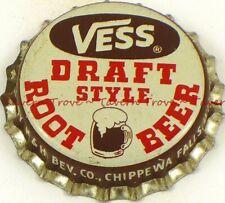1950s WISCONSIN Chippewa Falls VESS DRAFT ROOT BEER SODA Cork Crown Tavern Trove