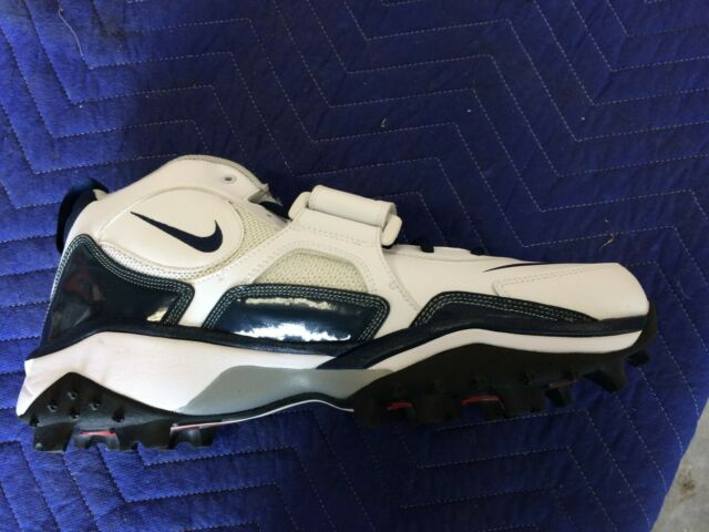 352638-141 White//Navy BRAND NEW Nike Zoom Code Pro Shark Wide Football Cleats