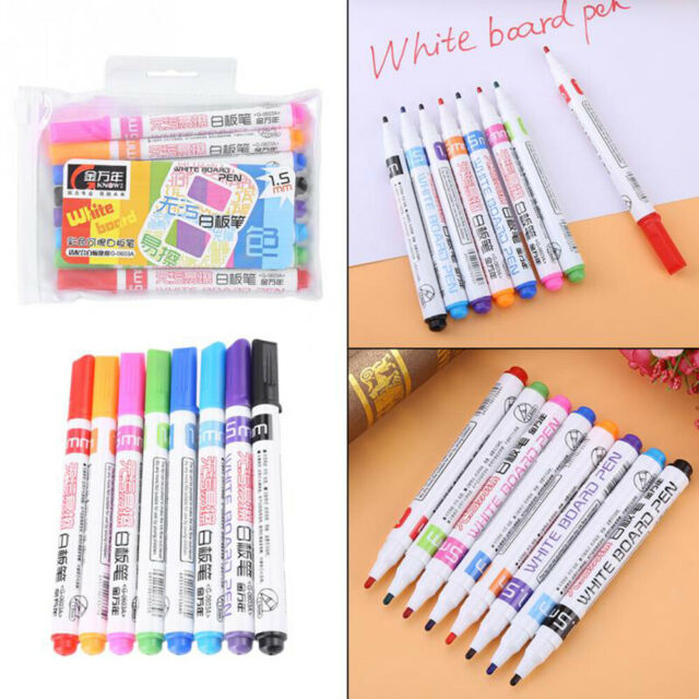 Painting Pen WhiteBoard Marker Colored Non-toxic Erasable Kids Graffiti 8Pcs CA