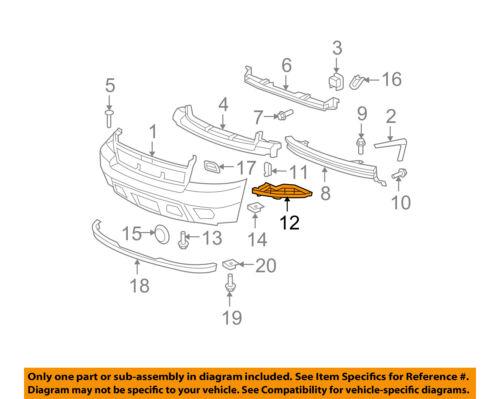 Chevrolet GM OEM 07-14 Suburban 1500 Front Bumper-Outer Filler Right 21996231