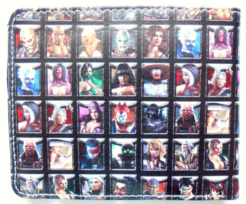 Portafoglio Bifold Mortal Combat Borsetta finestra ID 2 slot per schede tasca monete cartoni animati ps3