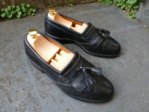 scarpe Edmonds Allen 8 Brogues Made Bridgeton Usa In nero Formal Tassel Loafers UgqCgY1