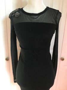 e1a163b2fb NEW GIANNI BINI Women s Long Sleeve Lace Dress Black sz XS