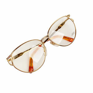 Authentic Gerald Genta Vintage Eyeglasses Gold Plated New Classic 05 130 mm