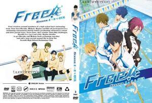 Details about ANIME DVD~ENGLISH DUBBED~Free!Iwatobi Swim Club Season  1-3(1-37End+OVA)FREE SHIP