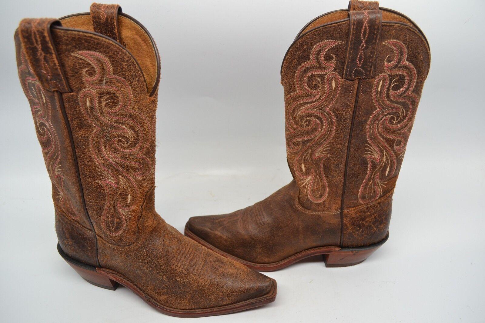 Garanzia del prezzo al 100% TONY LAMA donna 6 B Americana  Navajo Marrone Marrone Marrone Leather Western avvio SNIP TOE 7908L  vendite online