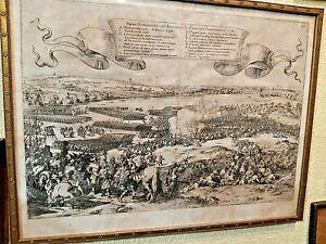 Johann Wilhelm BAUR (1607-1640) Pugna Gemblacensis 1578,antica stampa ORIGINALE