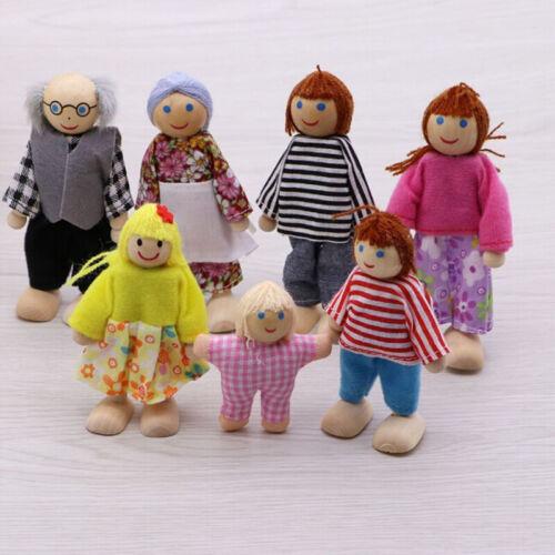 7 stück Familie Puppen Einstellen Hölzern Möbel Haus Vorschule RolleAbspielen