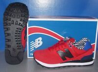 New Balance 574ACC Womens Shoes (Red/Blue/Black)