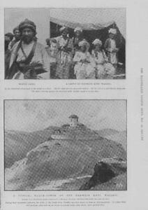 1902-Antique-Print-MIDDLE-EAST-Afghanistan-Waziri-Watchtower-Darwesh-Khel-314