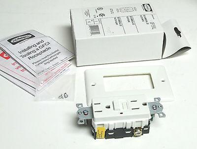 Hubbell GFCI Commerical LED 15A NIB . 125V White . GF15WL . VI-227