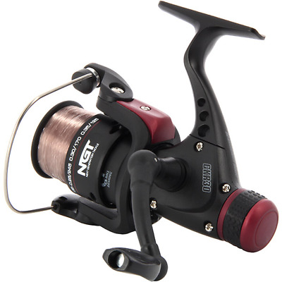 N.G.T CKR30 Coarse Spinning Fishing Reels With 8lb Line in Pink Float
