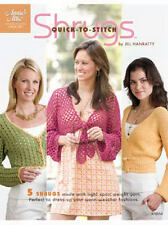 """Quick to Stitch Shrugs Crochet Pattern Instructions for 32""""-62"""" SM-5X Annies NEW"""