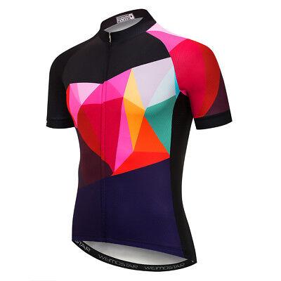 Mens Cycling Jersey Clothing Bicycle Sportswear Short Sleeve Bike Shirt Top XJ64