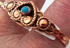 Copper Cuff Bracelet Wheeler Arthritic Healing Detox Sciatica Folklore cb 010