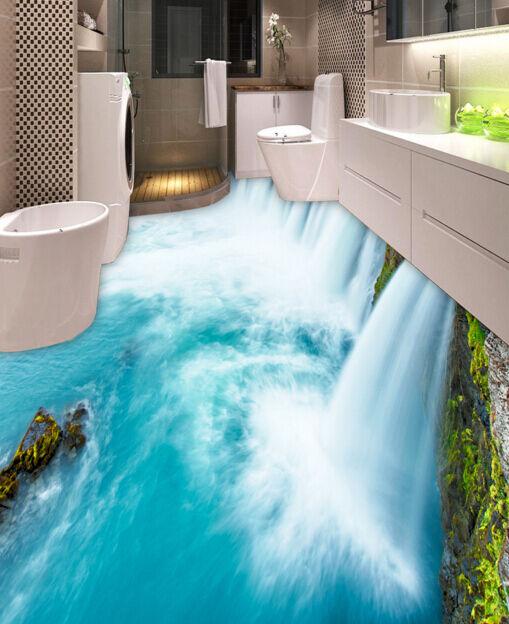 3D Huge Waterfall 2 Floor WallPaper Murals Wall Print Decal 5D AJ WALLPAPER