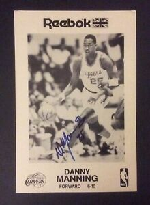Danny Manning Los Angeles Clippers Autograph Photograph 7.5x5 Reebok Promo
