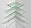 Modern-corner-shelf-glass-acrylic-shelving-chrome-fittings-included-cascading
