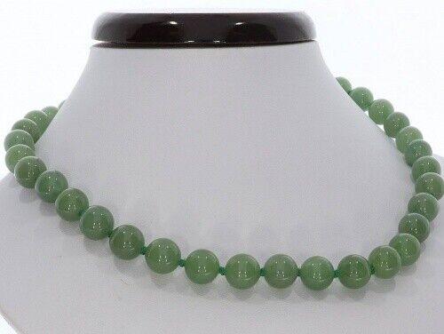 Aventurin verde bala joyas collar de oro carabina 10mm// 47-55cm sp1182
