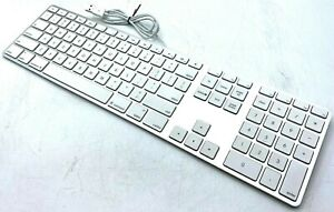 Apple A1243 Slim Aluminum Keyboard White Wired USB - TESTED w/ WARRANTY!!