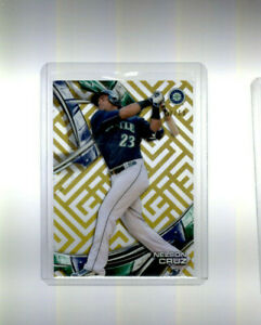 2016 Topps High Tek Nelson Cruz Numbered 42/60 Card #HT-NC Seattle Mariners Rare