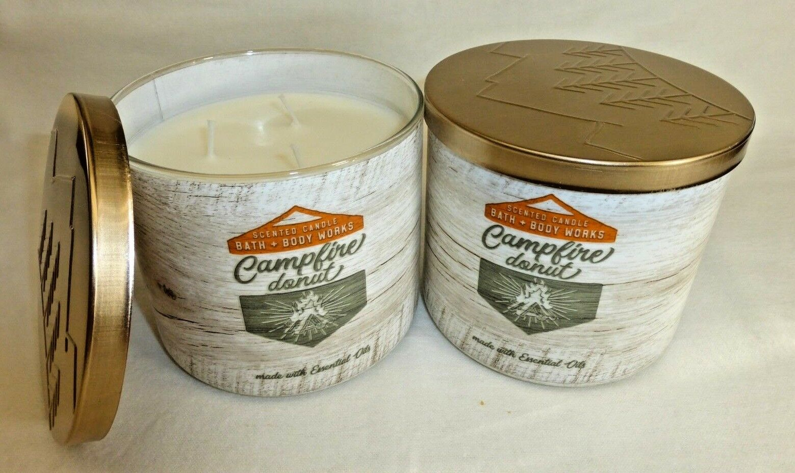 2 Campfire Donut Scented Candle Bath & Body Works 14.5 Oz