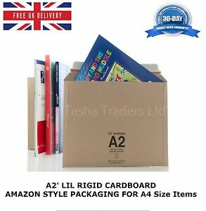 5-x-A2-LIL-RIGID-CARDBOARD-AMAZON-STYLE-MAILERS-ENVELOPES-F3-JL3-A4-Size-HQ