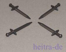 LEGO Ritter - 4 x Schwert / Langschwert in perl - dunkelgrau / 98370 NEUWARE