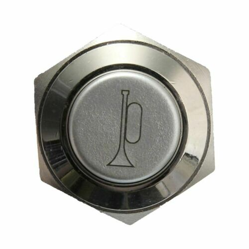 12V 16mm Car LED Light Momentary Horn Button Metal Switch Push Button red K8H2