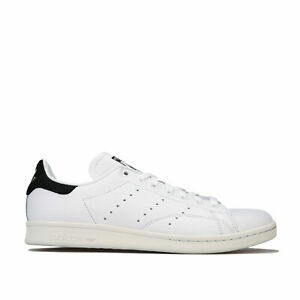 Homme-Adidas-Originals-Stan-Smith-Baskets-en-Blanc-Cuir-pleine-fleur-superieur