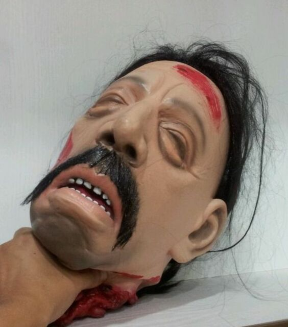 TORTUGA SEVERED HEAD LATEX LIFE SIZE HALLOWEEN BREAKING BAD PROP DECORATION