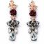 1Pair-Elegant-Women-Red-Rose-Black-Resin-Crystal-Ear-Stud-Eardrop-Dangle-Earring thumbnail 1