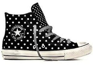 5dc3672e6de140 CONVERSE All-Star Hi Top Sneakers Chuck Taylor Polka Dot 540316C New ...
