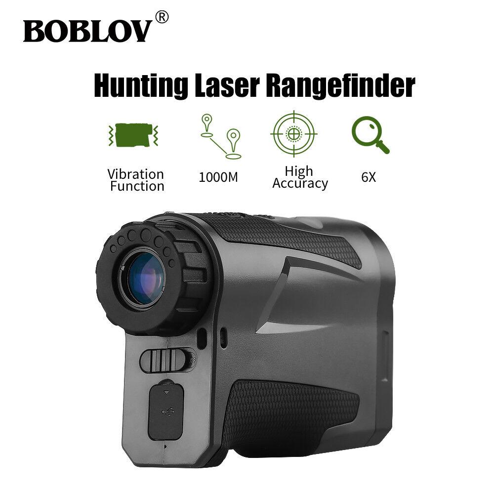 Boblov LF1000S 6x22 óptico 1000M caza Láser Telémetro ocular ajustable