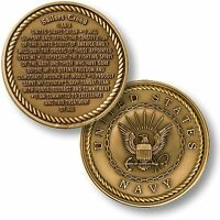 Sailor's Creed Challenge Coin Usn United States Us Navy Sailor Bronze Oath Naval